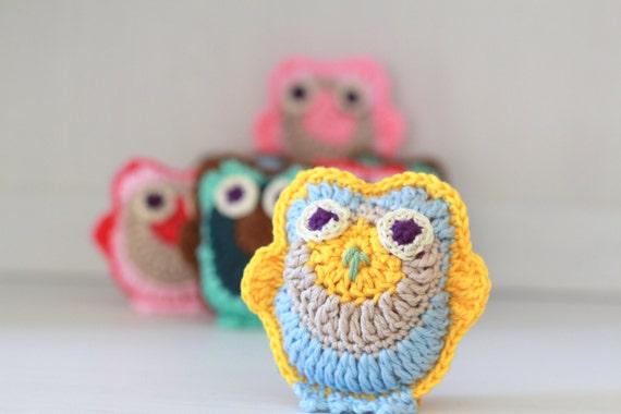 Crochet Owls Animal Pattern Owl Dcor Amigurumi Toys Crochet Etsy