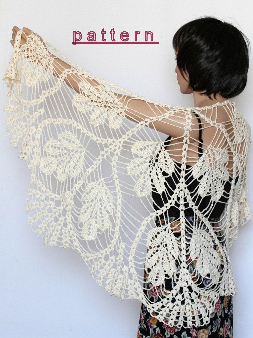Crochet Shawl Pattern Wedding Shawl Wrap Shawls Crochet Etsy