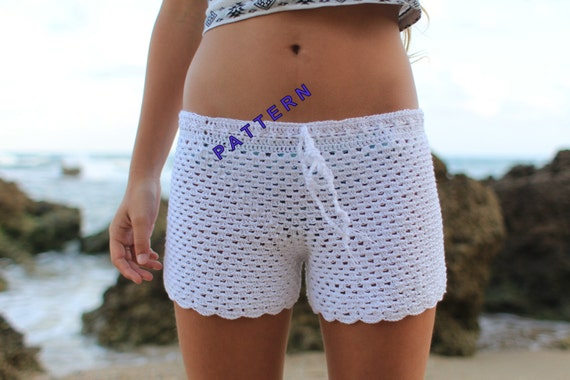 Lace Shorts Pdf Crochet Shorts Pattern Crochet Patterns Shorts Etsy