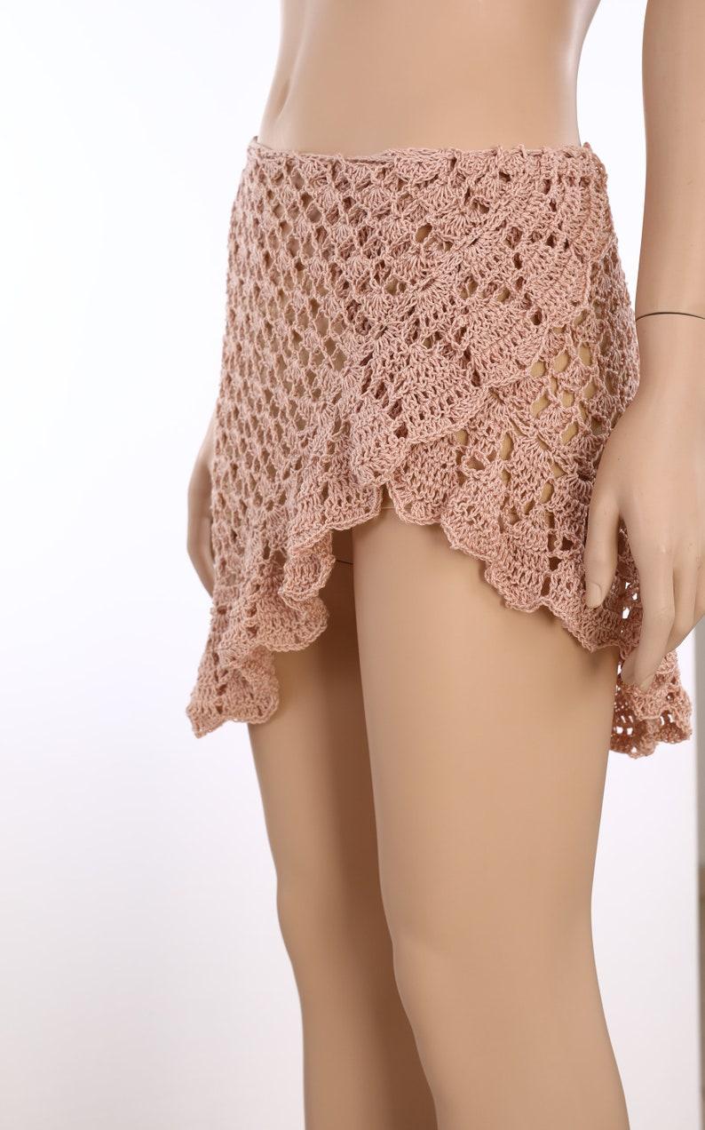 Wrap Skirt Skirt crochet pattern Summer skirt tutorial Women/'s clothing patterns Lace skirt Crochet skirt Pattern Mini Skirt Festival Skirt