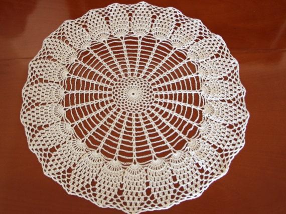 Crochet Round Pineapple Doily Pattern Pdf Tutorial Vintage Etsy