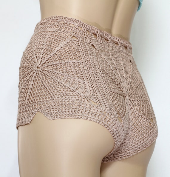 Crochet Shorts Pattern Sexy Summer Shorts Tutorial Crochet Etsy