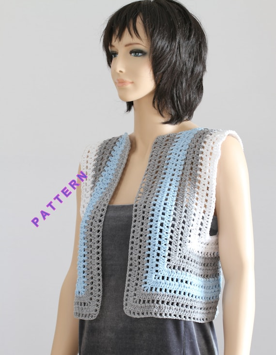 Vest Pattern Crochet Sweater Crochet Vest Pattern Lady Sweater Etsy