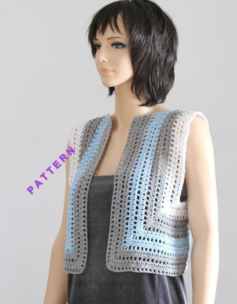 Vest Pattern Crochet Sweater Crochet Vest Pattern Lady Sweater Etsy