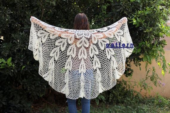 Crochet Lace Shawl Tutorial Crochet Pdf Patterns Crochet Etsy