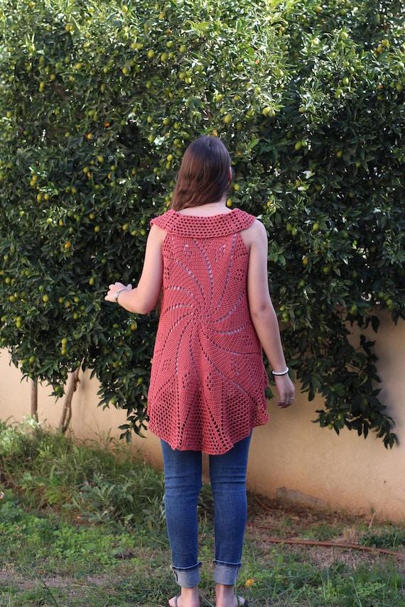 Lace Vest Crochet Pattern Circular Vest Pattern Bohemian Etsy