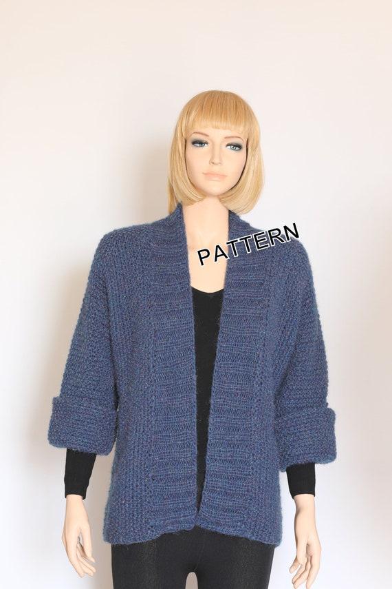Knit Cardigan Pattern Sweater Pattern Hand Knit Pullover Knit | Etsy