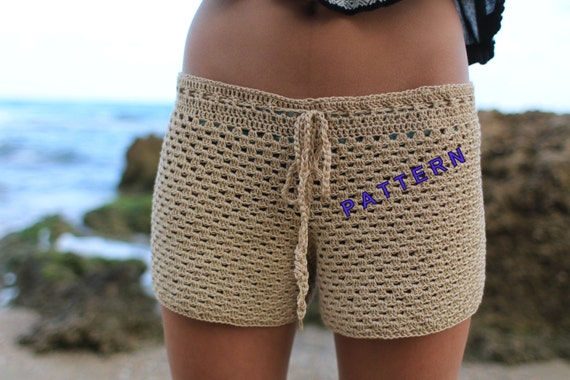 Crochet Shorts Pattern Beginner Crochet Patterns Summer Shorts Etsy
