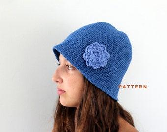 Crochet Brimmed Hat Pattern Crochet Garden Hat Tutorial Beginner Crocheted Hat Patterns