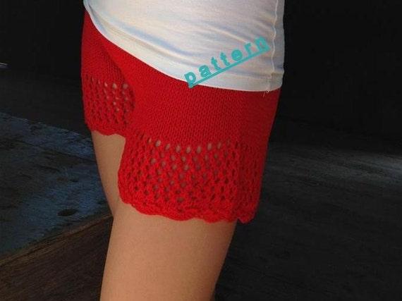 Knitted Shorts Pattern Knit Lace Short Pdf Tutorial Pattern Etsy