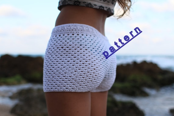 Crochet Shorts Pattern Lace Crochet Short Pdf Tutorial Etsy
