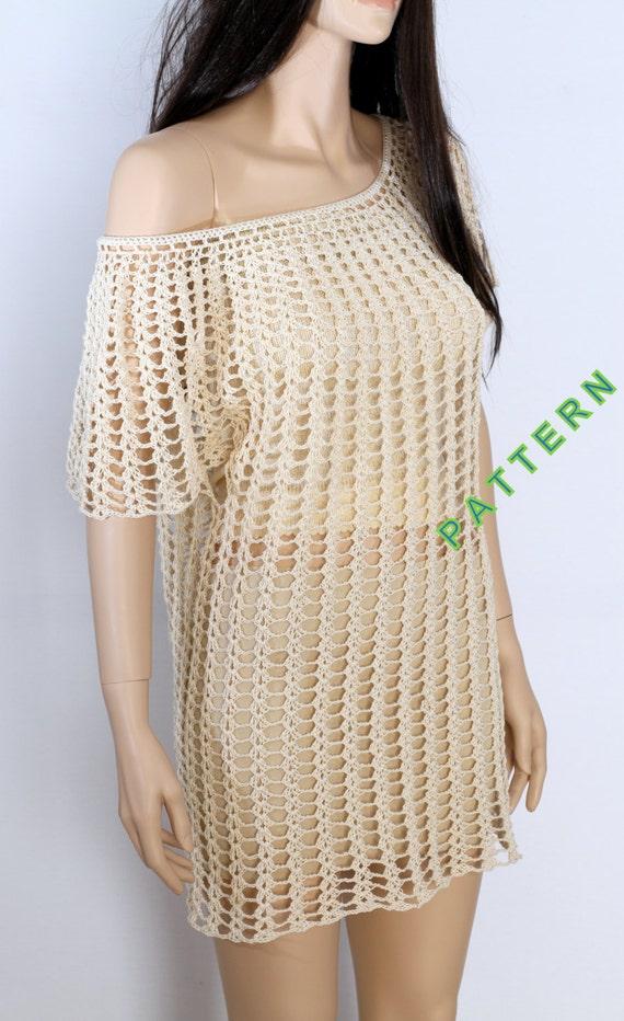 Tunic Pattern Crochet Top Pattern Shirt Cover Up Crochet Etsy