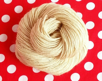 115g Undyed Worsted Yarn, 100% Untreated BFL Wool 4-ply--200yd Skeins, Canadian Milled