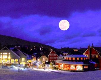 Vermont Photography Print, Sugarbush Photo, holiday, Winter, wall, home, decor, gift, FREE SHIPPING, skiing, snow,