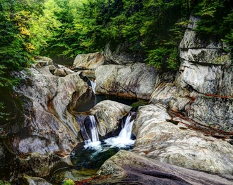 Vermont, Photography, photo, print, Warren Falls , wall, home, decor, gift, fine art, limited editions(50), FREE SHIPPING, New England,