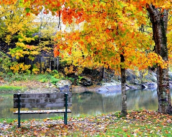 Vermont, Fall, Photograph, Autumn, photography, photo, gift, wall home decor, Mad River, FREE SHIPPING, 3 sizes, Mad, River,
