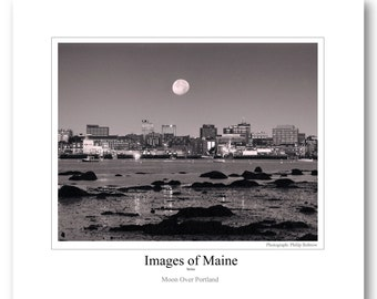 Maine Poster, Portland photo lab and printer. perfect gift, wall decor, affordable, free shipping, rolled in a sturdy tube