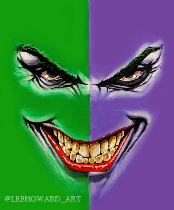 Joker Smile 10x12 Lee Howard Art Etsy A collection of the top 57 joker smile wallpapers and backgrounds available for download for free. etsy