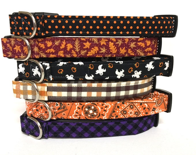 Featured listing image: Naked Dog Collar- Fall and Halloween- Your choice- Adjustable Collar
