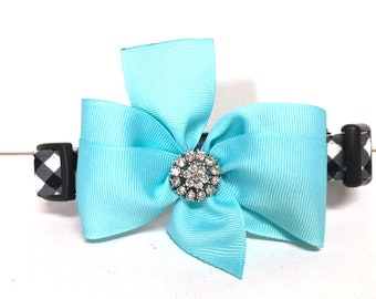 Dog Collar- The Tiffany- with removable bow- Adjustable collar