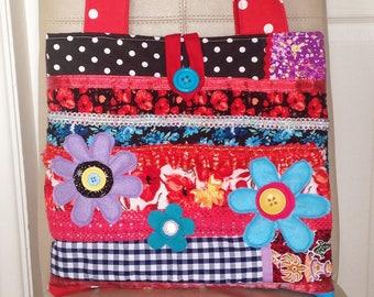 Boho Handbag, Boho Hippie Handbag, Gypsy Handbag, Patchwork Handbag, Patchwork Tote Bag, Hippie Handbag, Bohemian Handbag, Retro Handbag