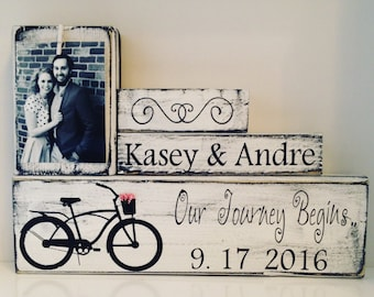 bridal shower gift for wedding-Bride groom gift-for her-Personalized engagement gift for couple-bride-last name wedding gift -unique wedding