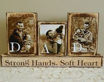 Dad strong hands soft heart, first father's day gift, gift for dad, dad gift, for dad from children, personalized fathers day gift, for dad
