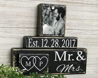 Wedding Gift, Wedding gift ideas, Wedding Present, Custom Sign, Bridal Shower Gift, Anniversary Gift, Mr and Mrs, Wedding Present, for her