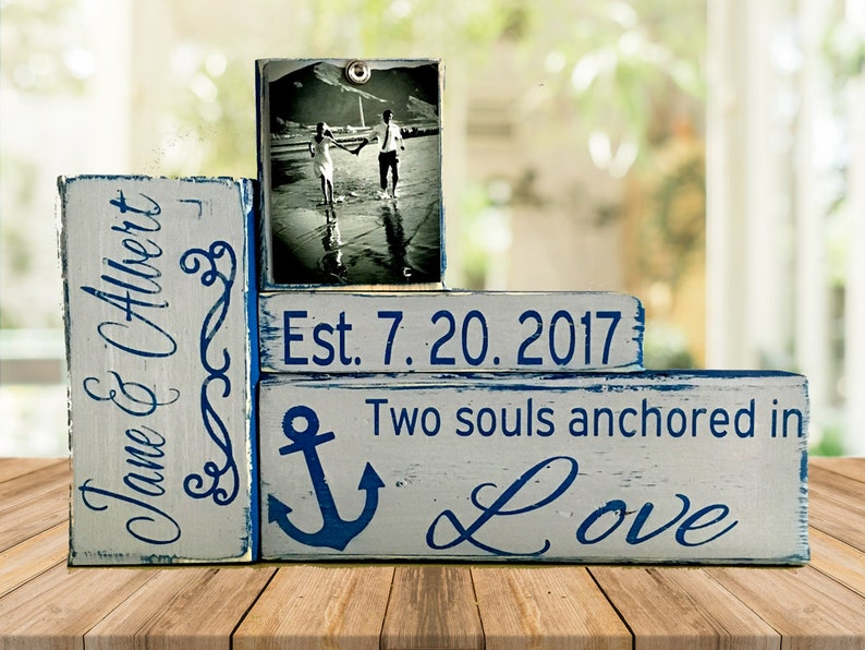 Nautical Wedding Gift For Couple Bridal Shower Gift Husband Etsy