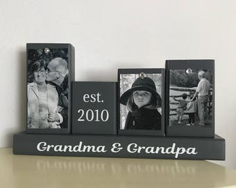 Grandpa and grandma gift, grandparents gifts, grandma gift, grandpa gift, gift for mom and dad, Mother's Day gift, Father's Day gift, custom