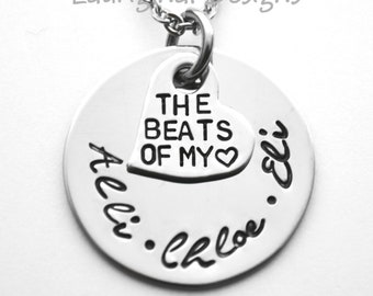 Personalized mother necklace - Any names that fit - Choice of chain - ALL stainless steel