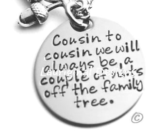 Cousin of the Bride Necklace \u2022 Bride/'s Cousin Wedding Jewelry \u2022 Connecting Circle \u2022 Family Necklace Wedding Gift \u2022 Favorite Cousin Gift