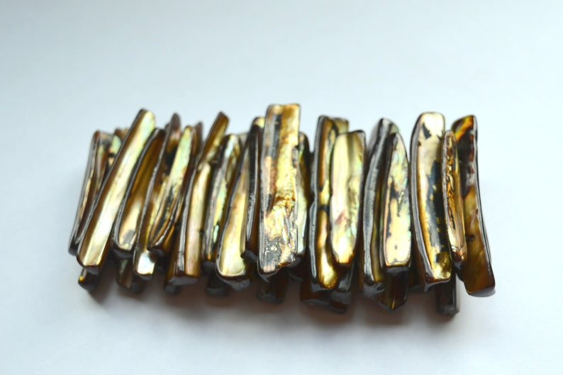 shell and elastic Brown shell bracelet