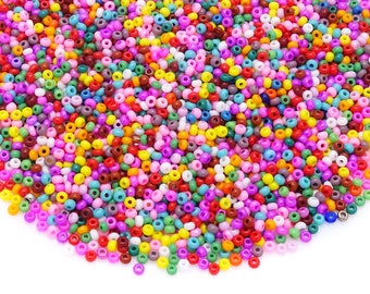 lot 20g de perles de rocaille ornella lilas ////19