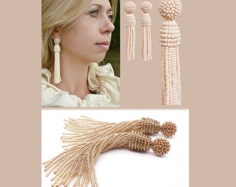 Stainless Steel- Nude Handmade Sparkling Stud Earrings