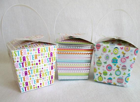 Easter Favors Easter Boxes Mini Easter Baskets Easter Favor Etsy