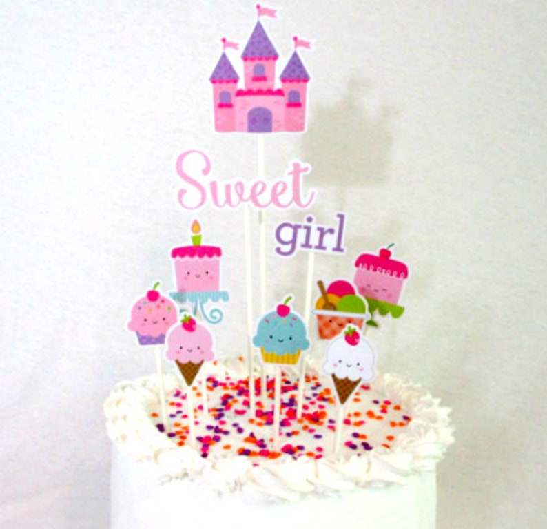 Princess Cake Topper Party Decorations Birthday