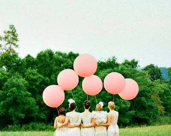 "Wedding Balloons Giant Balloon 36"" Or Large Balloon 24"" Wedding Decorations Pink Balloons Wedding Photo Prop Birthday Balloons Huge Balloon"