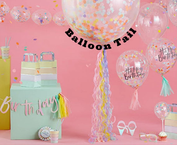 Balloon Tassel Birthday Decoration Streamer