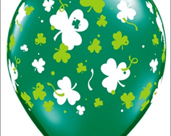 St Patrick's Balloons St Patrick's Day Balloons 5 Saint Patty's Day Balloons Balloons Shamrock Balloons or Balloon Bouquet Shamrocks Clover