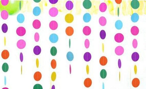 5702fb7f582 Streamer Polka Dot Garland Rainbow Banner Balloon Tassel