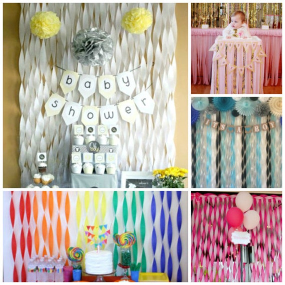 Backdrop Crepe Paper Photo Background Birthday Party Etsy