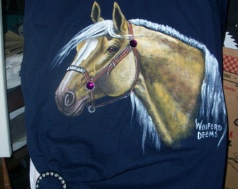 HAND-PAINTED Horse Sweat Shirts & T's - Available Now
