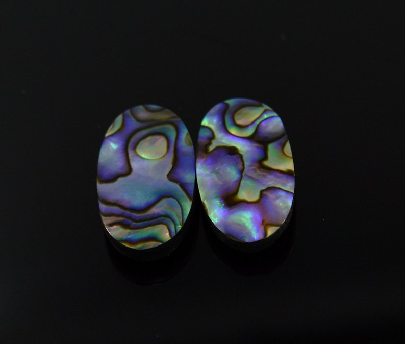 Natural Doublet Abalone Shell Pair Oval Shape Loose Semi Precious gemstone cabochon size-27x15mm  For Jewelry Design Earring Making.