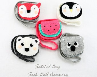 PDF Pattern for the Sewinthemoment Satchel Bag with variations - Penguin, Polar Bear, Fox, Koala and Watermelon