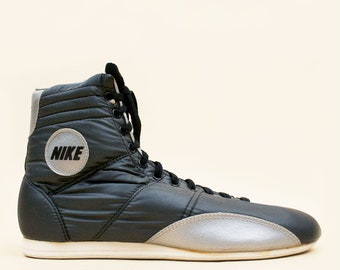 low priced 5a127 a9dba 80s  1984 - 85  HIJACK Nike Wrestling Parachute Nylon Hi Top Lace Up  Sneakers rare Deadstock NWOB  Mens 9.5 Womens 11 11.5 EU 43