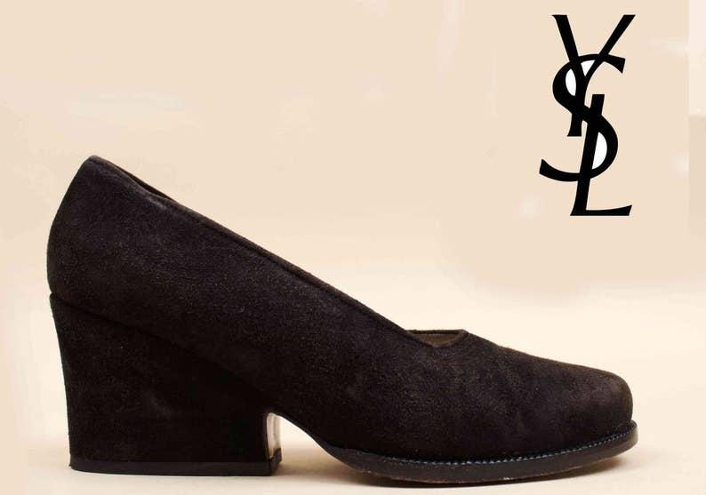 fcc982d0f52671 80er Jahre 90er Jahre Vtg Yves Saint Laurent YSL schwarz aus