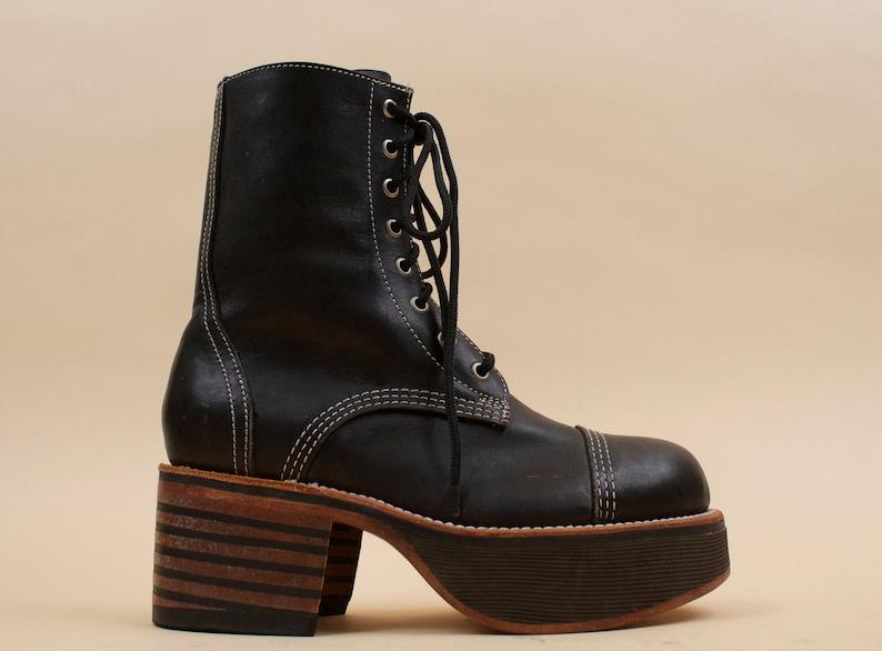 030ac6094f6 80s 90s Vtg Black Genuine Leather Deadstock NANA for MURO