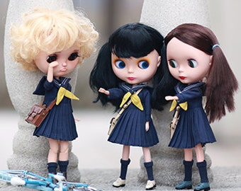 Miss yo 2016 Summer & Autumn - School Uniform Set for Blythe / JerryBerry doll - dress / outfit