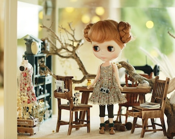 Miss yo 2015 Summer & Autumn - Mori Style Inner Dress for Blythe doll - dress / outfit - Birdie